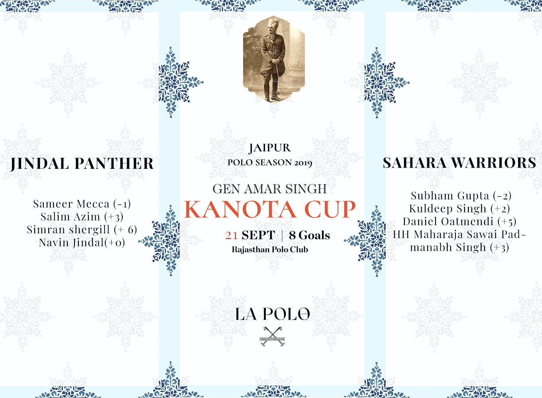 Final For Gen Amar Singh Kanota Cup 2019