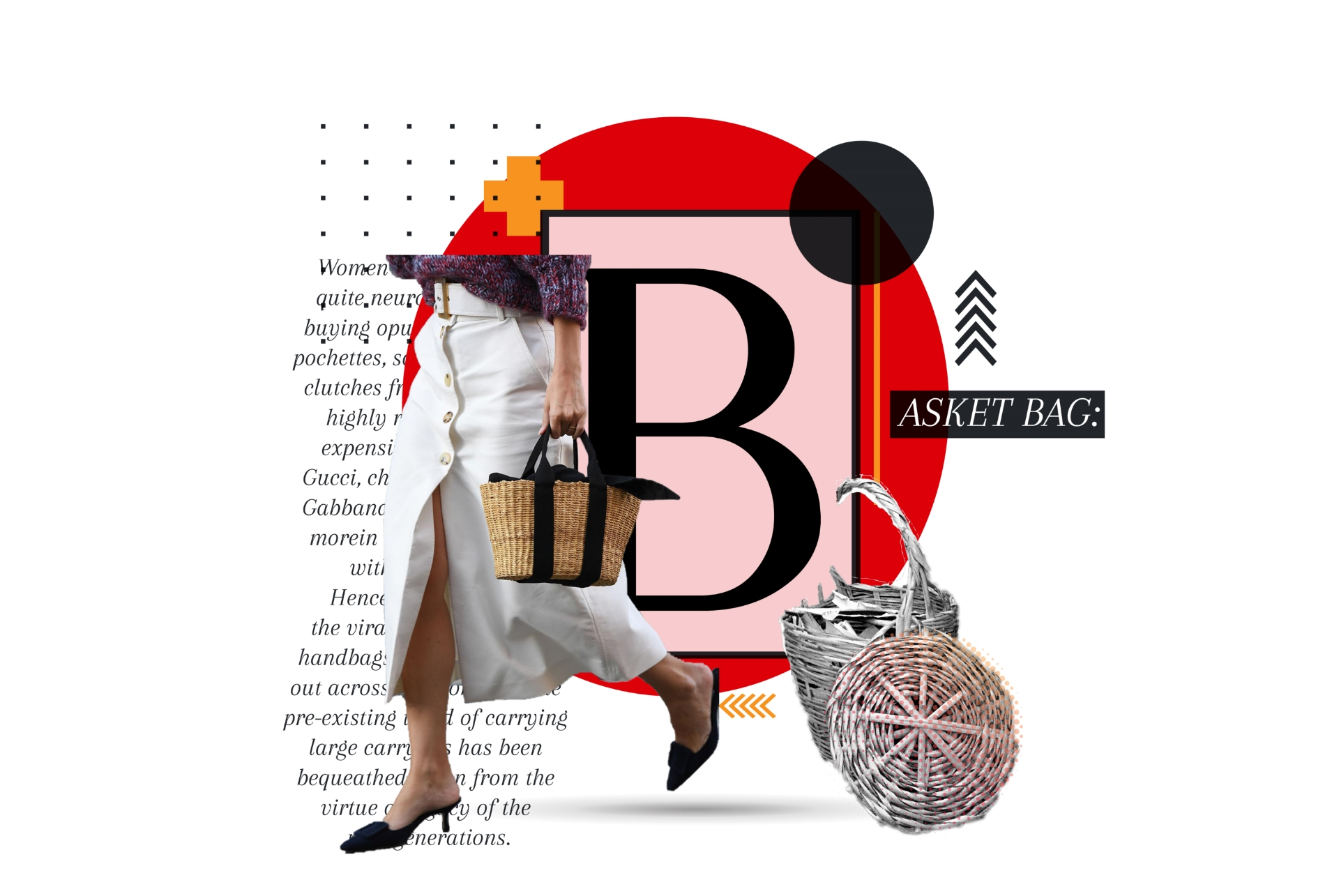 BASKET BAG: toting the trends