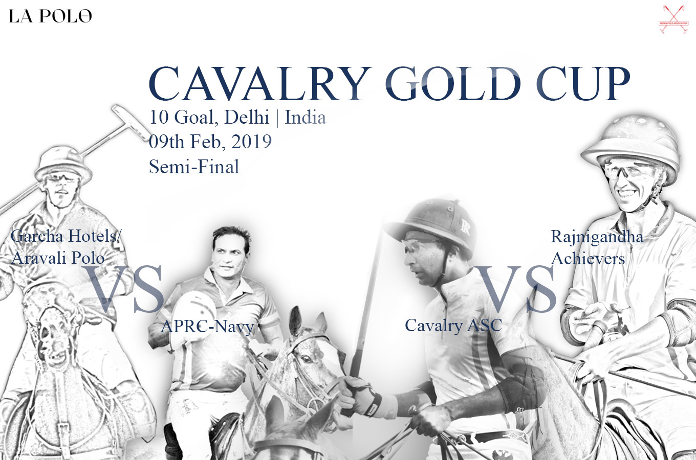 semi-final action of the Cavalry Gold Cup