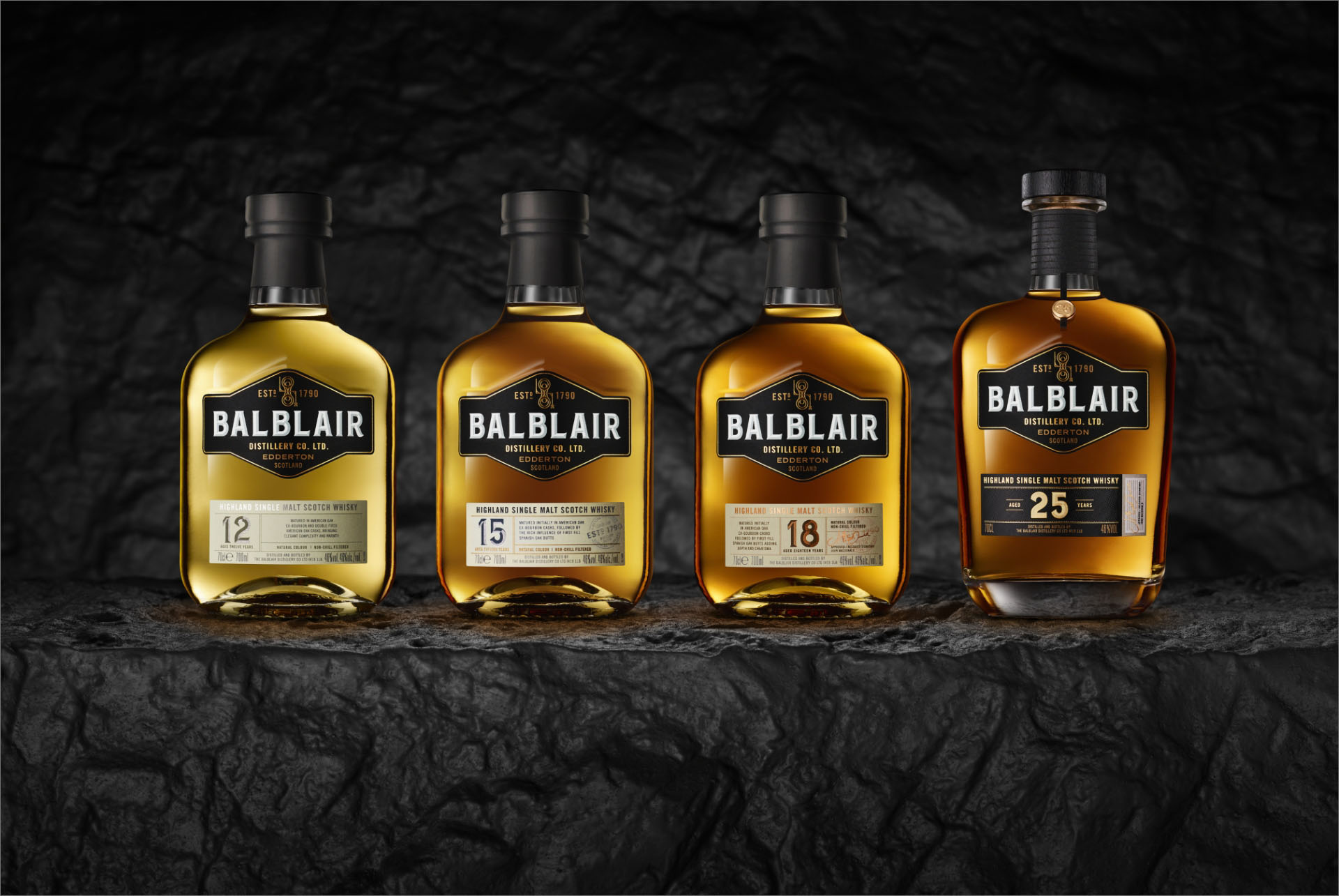 Balblair Scotch Whisky 12yo, 15yo, 18yo, 25yo