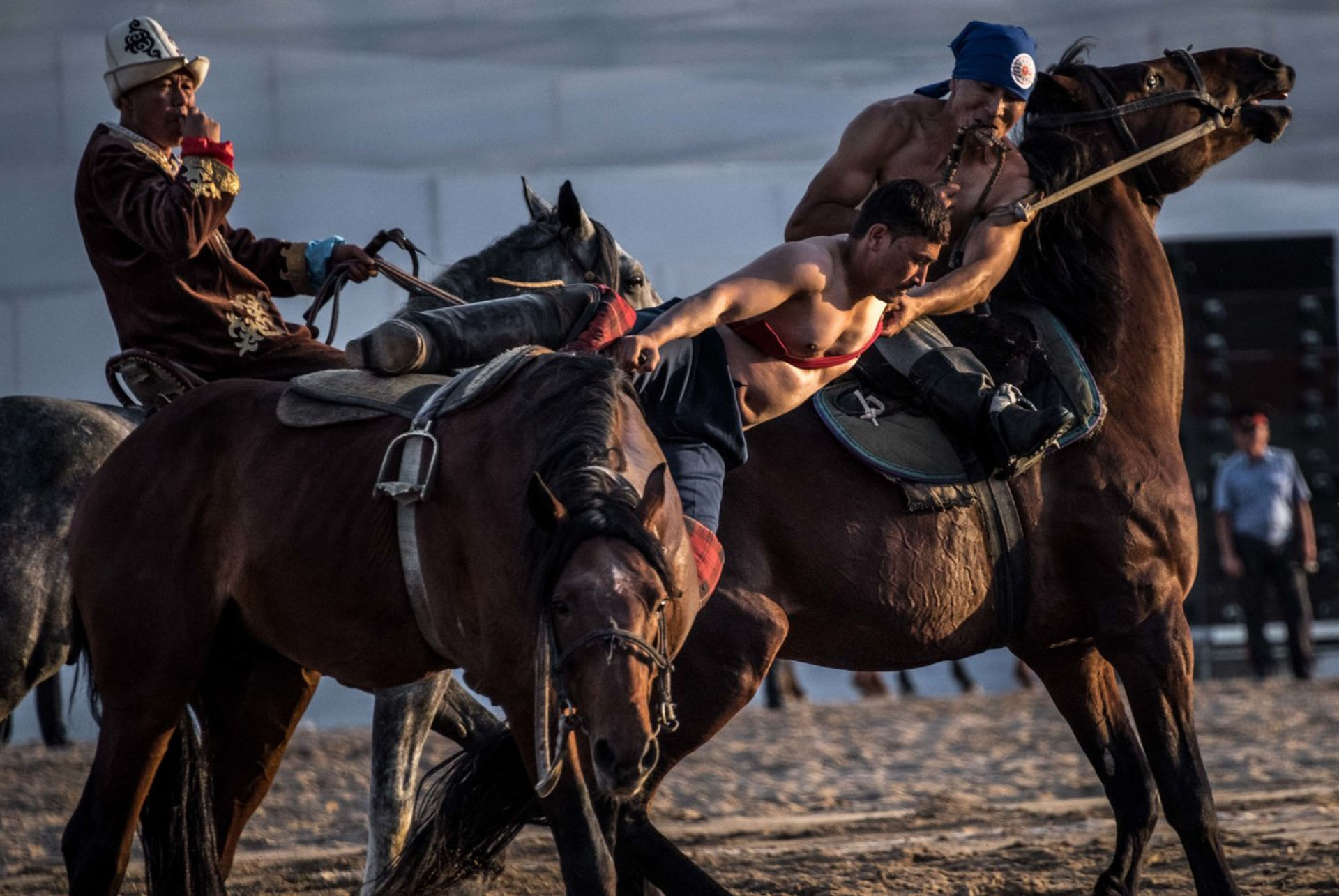 Kurosh Wrestling on Horseback
