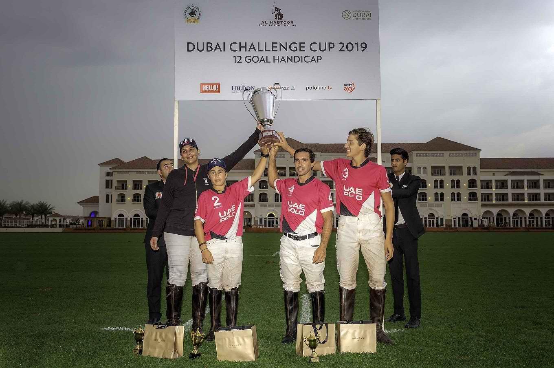 UAE POLO TEAM RAISED THE FOURTH