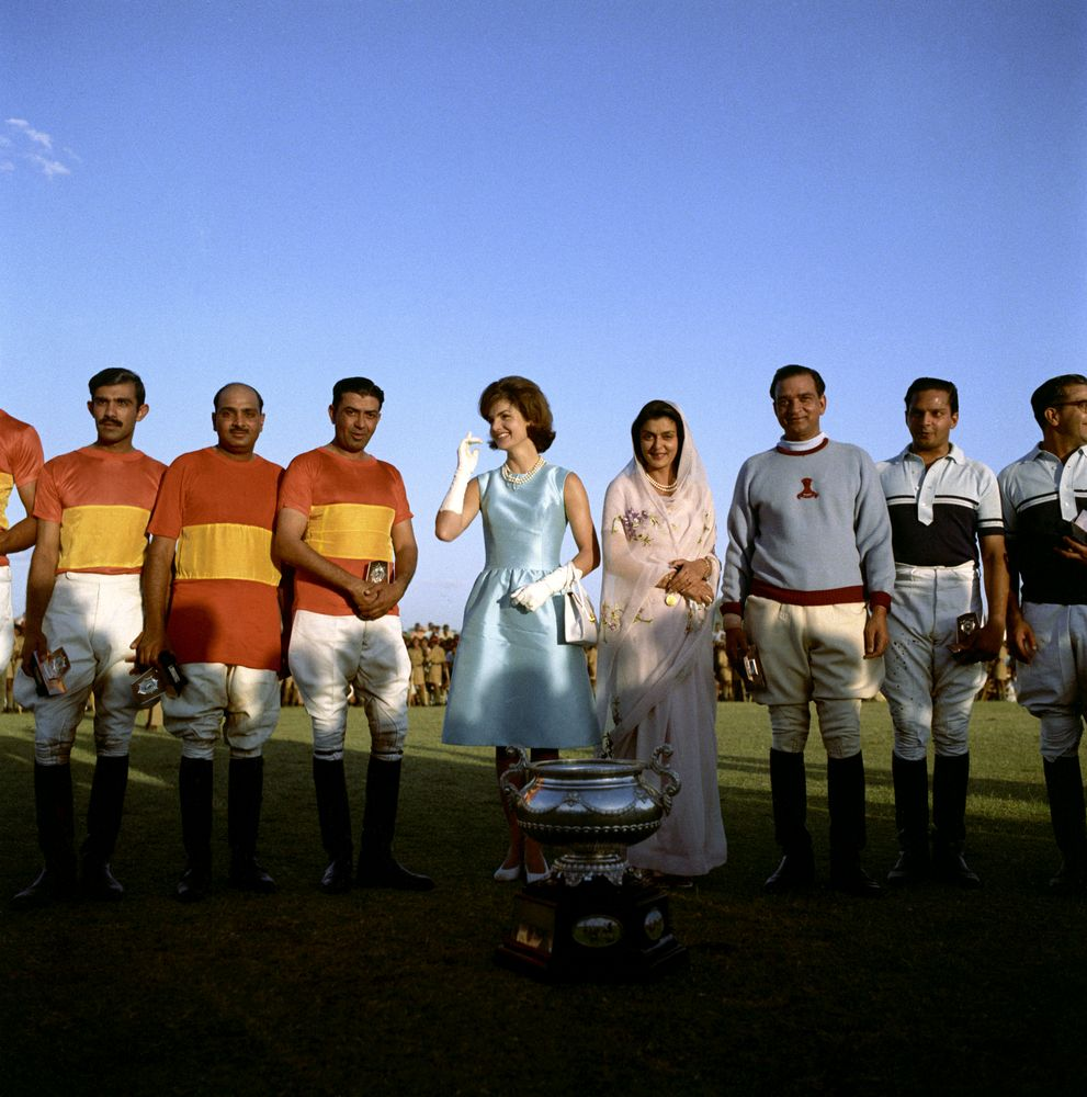 First-Lady-Jacqueline-Kennedy-at-Polo-Match-in-India-lapolo