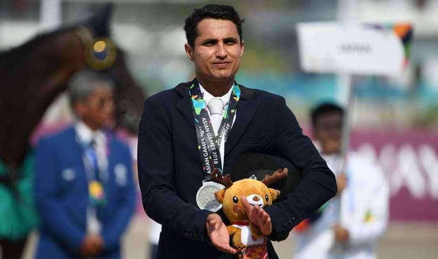 Asain Games, Asain Games 2018, Asain Games 2018 Indonesia, Fouaad Mirza, Individual Equestrian, Individual jumping, Silver medal,equestrian,indian team,equestrian