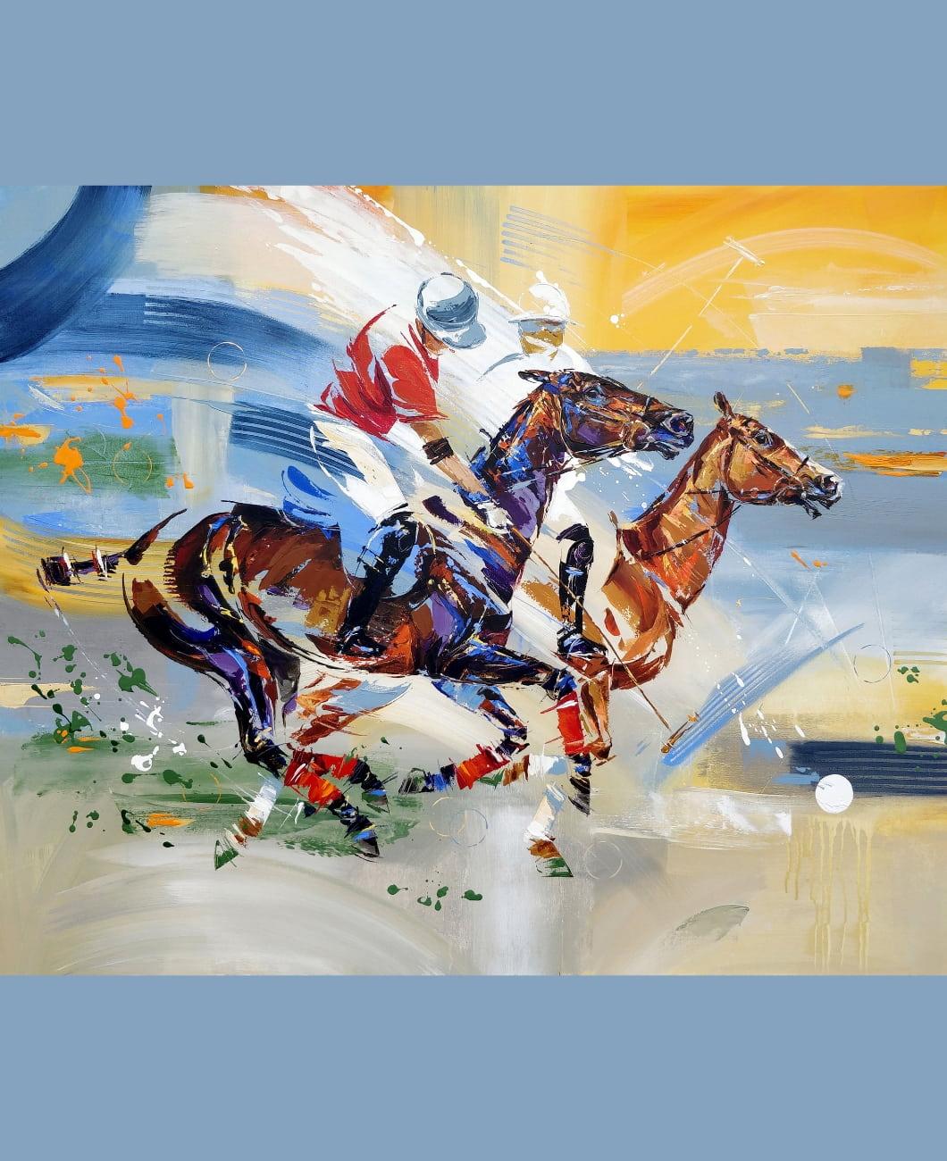 yutao-ge-kateina-morgan-horse-polo-art-gallery-painters-la-polo