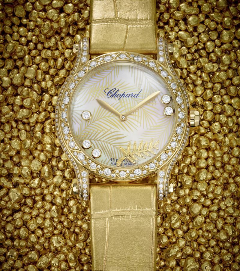 happy sport watch, Chopard watch 25th anniversary, happy sport, women's watch, sports watch, The happy palm
