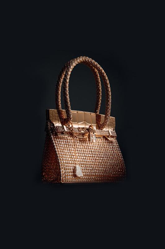 Gold Kelly Crocodile bag