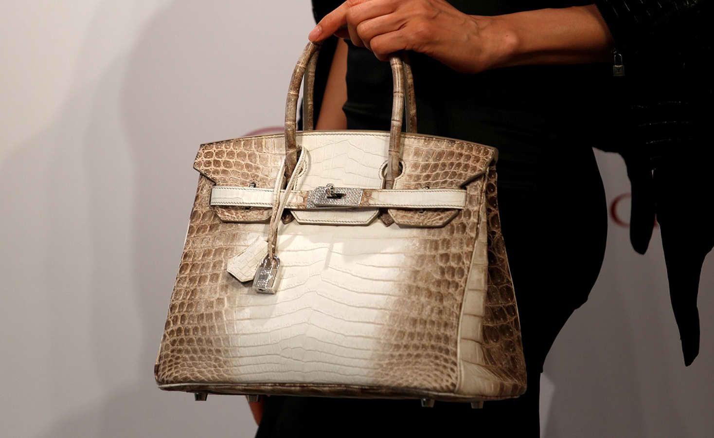 Hermes White Himalaya Crocodile Birkin Bag