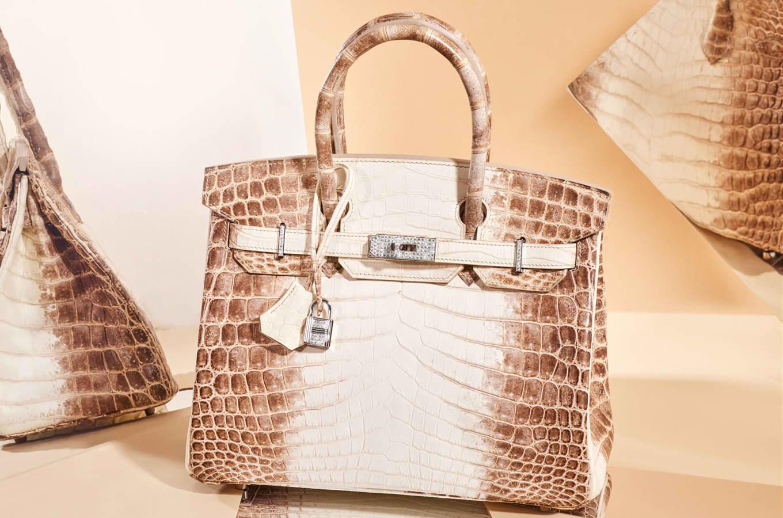 The Hermes White Himalaya Crocodile Birkin Bag