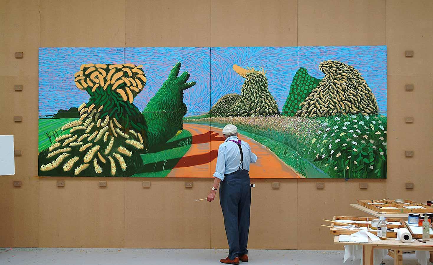 Hockney van gogh