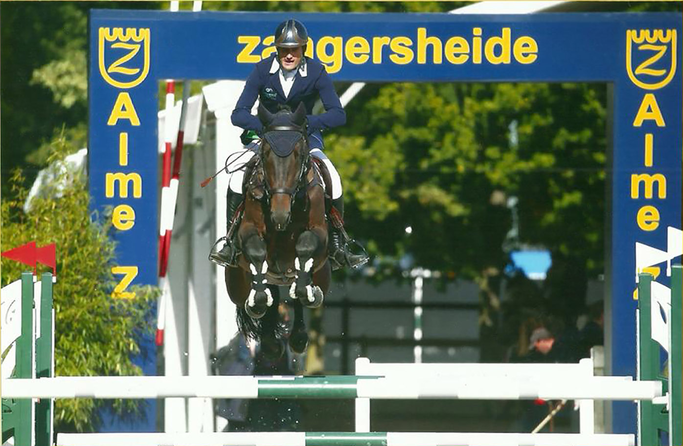 Nick Verlies during a show jumping competition