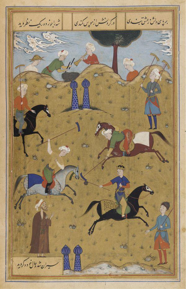 -kings, polo, chogan, polo in persia, polo in Iran, ancient polo,