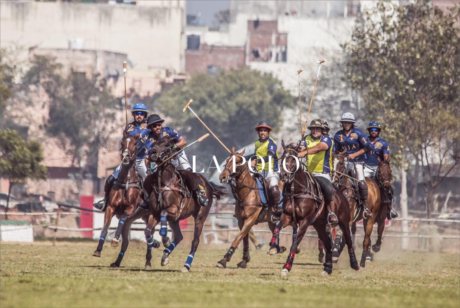Polo players in action during Delhi Polo Season 2019