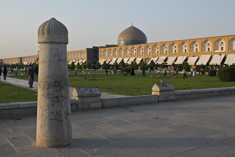 Polo_goal_post_outside_Naghsh-e-jahan_Iran_17th_century