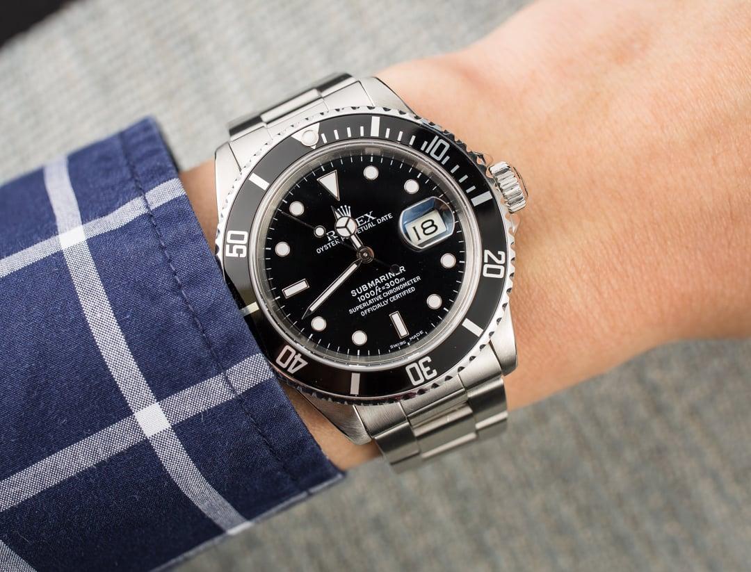 Rolex Oystersteel 16610 Submariner, Bobswatches.com