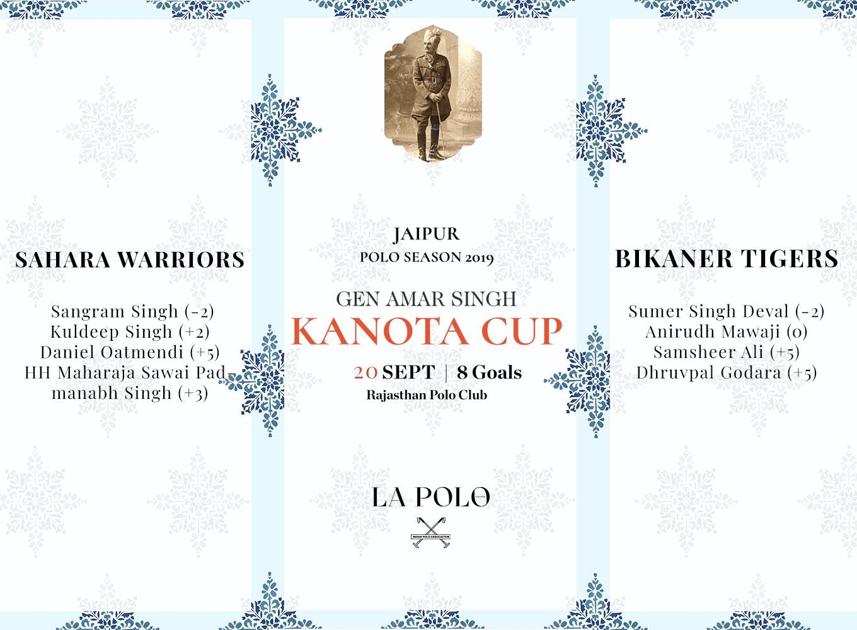 Semi Final For Gen Amar Singh Kanota Cup 2019