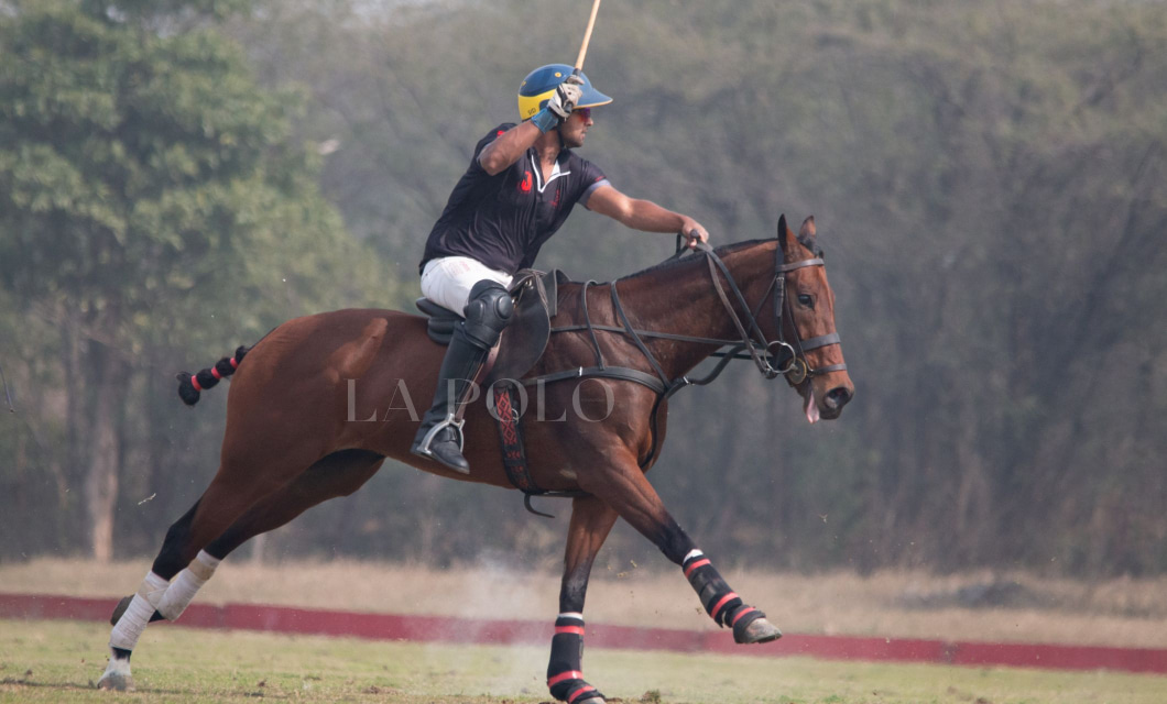 Siddhant Sharma playing polo during the Delhi Spring polo season 2020