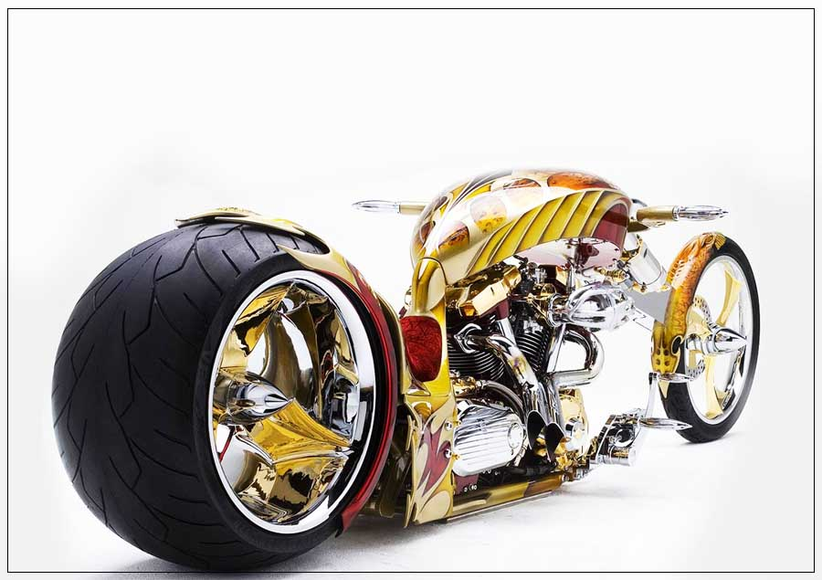 The gold plated motorbike