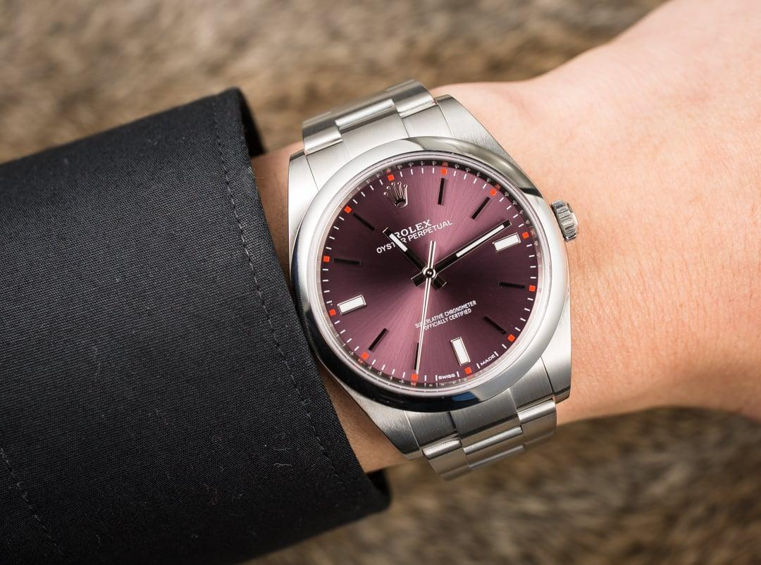 The Oyster Perpetual Red Grape Colour Dial, Bobswatches.com