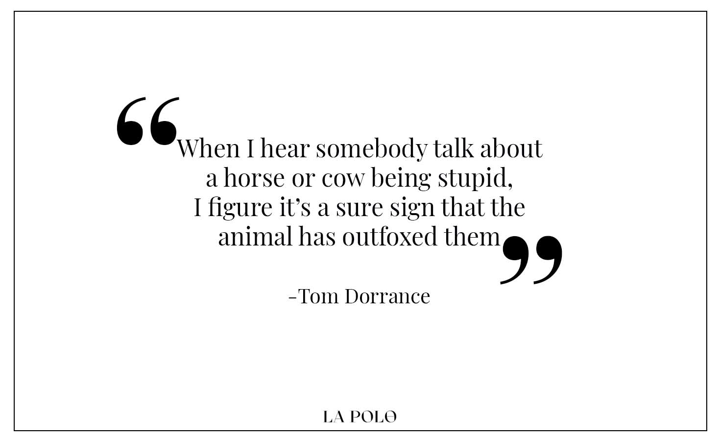 Tom Dorrance quotes