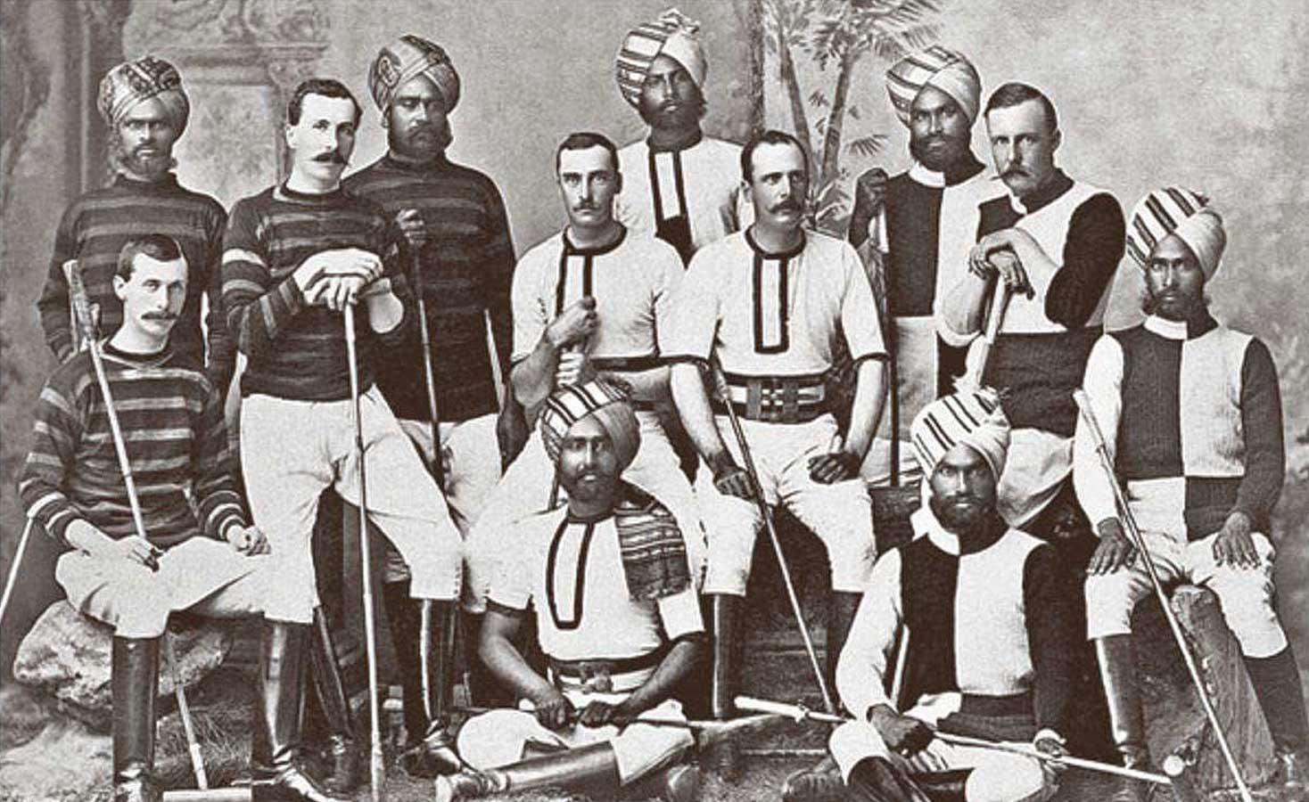 Vinatge polo team of manipur polo