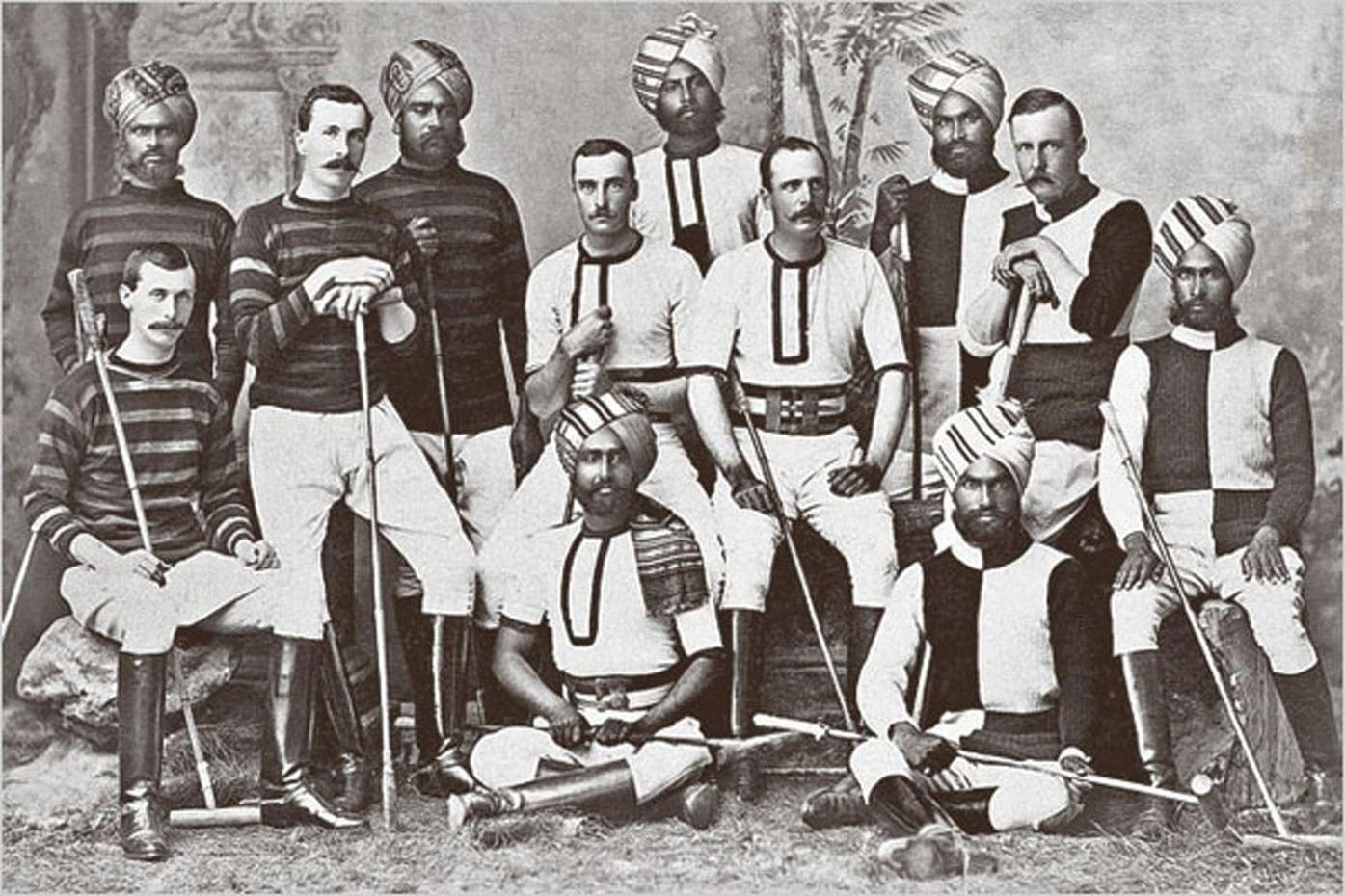 Member of a British army polo team in Hyderabad, India, 1900