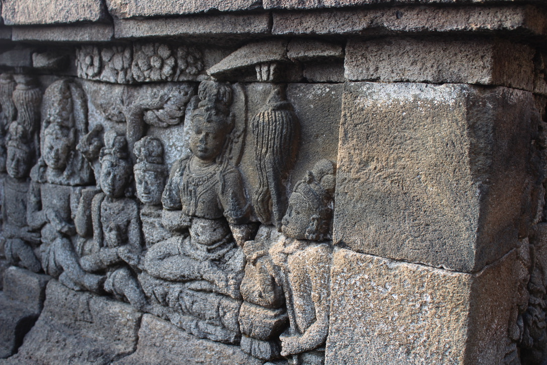 carvings-at-borobudur-temple