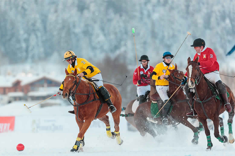 snow polo world cup, polo in snow,Kitzbuhel