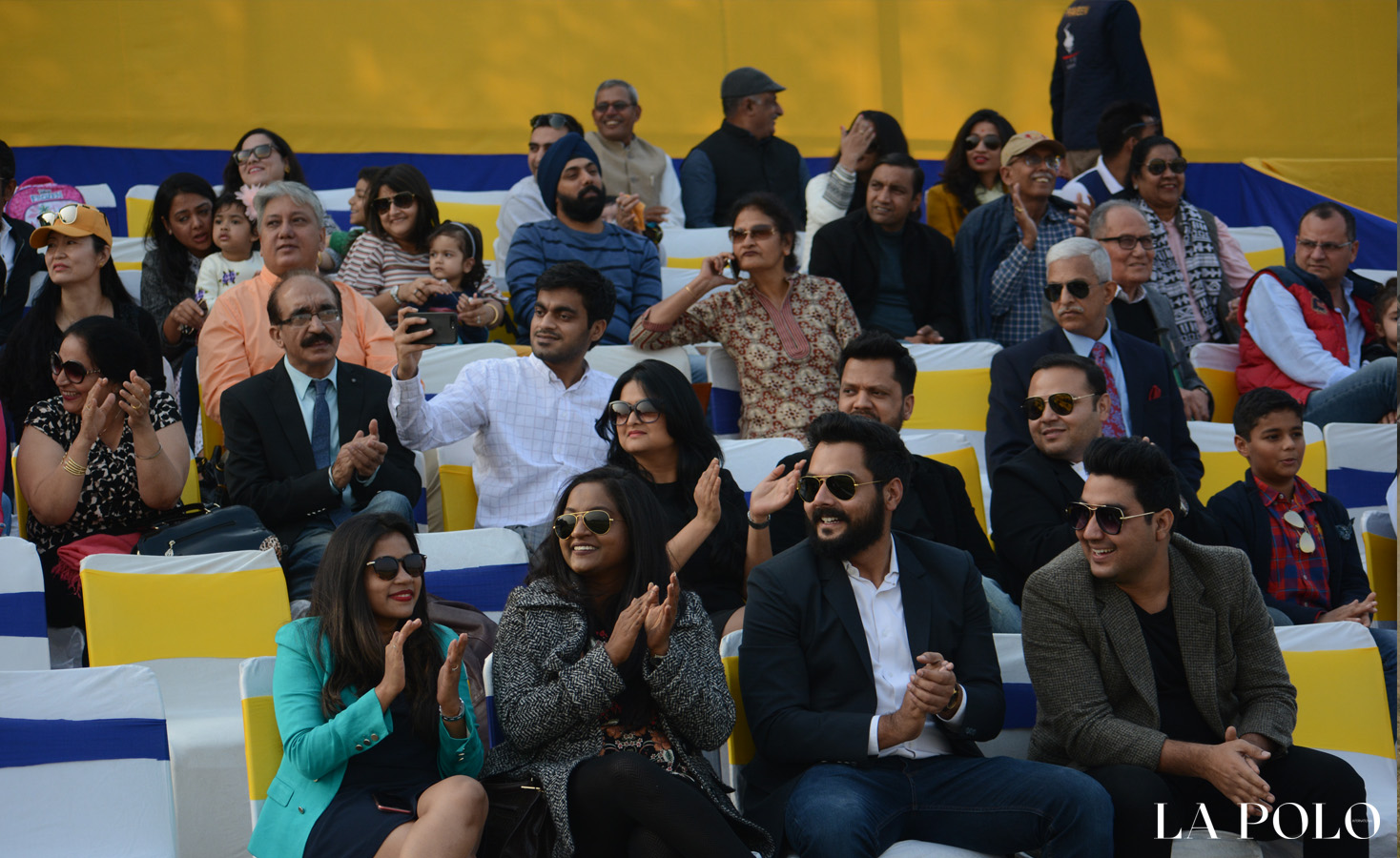 polo audience  at match