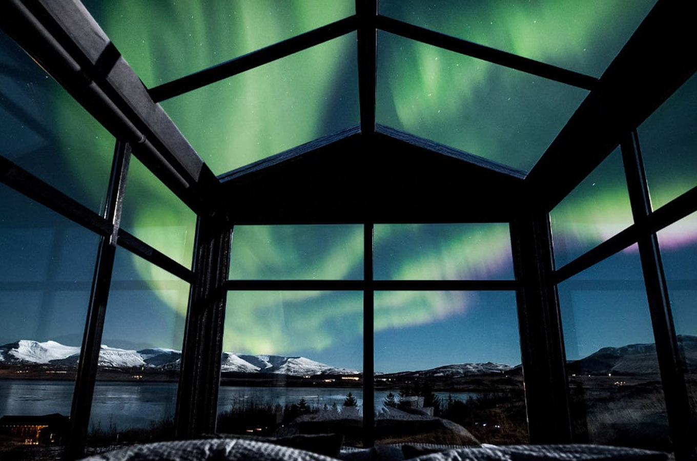 Gorgeous Glass Cabin, Iceland