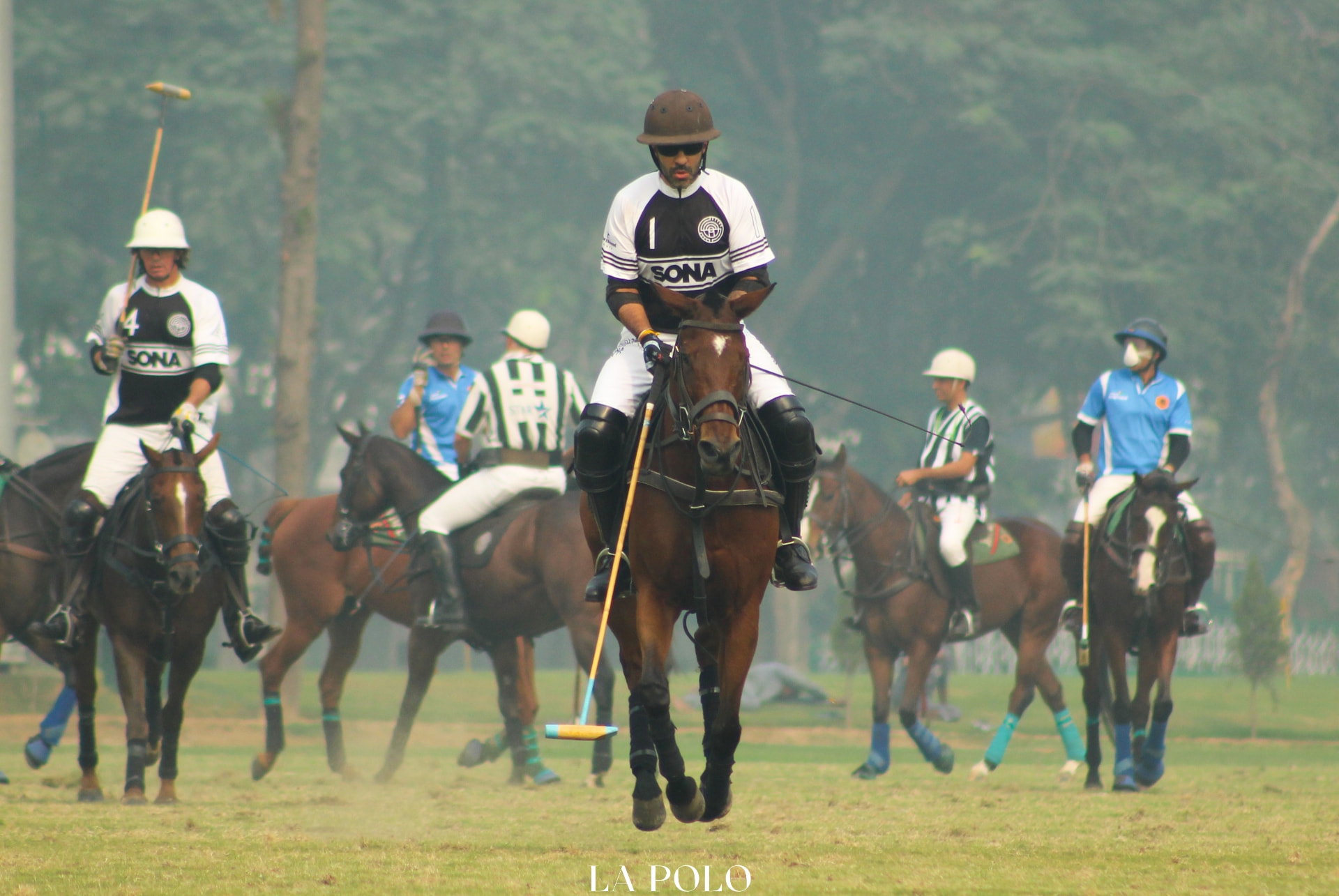 Sunjay J Kapur in play during the Indian Polo Season